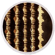 Angkor Wat Colonnettes 03 Round Beach Towel