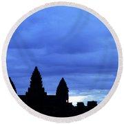 Angkor Wat Sunrise 01 Round Beach Towel