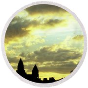 Angkor Wat Sunrise 03 Round Beach Towel