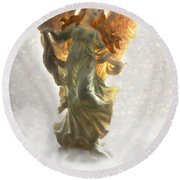 Angel II Round Beach Towel