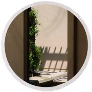 Angled Reflections Round Beach Towel