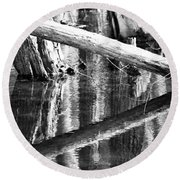 Angles And Reflections Round Beach Towel