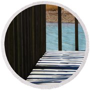 Angles And Shadows Round Beach Towel