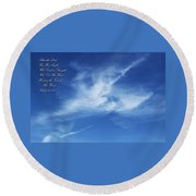 Angels In The Sky Round Beach Towel