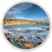Anglesey Seascape Round Beach Towel