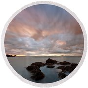 Anglesey Sunset Round Beach Towel