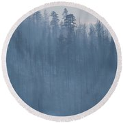 Angora Fire In South Lake Tahoe, Ca Round Beach Towel