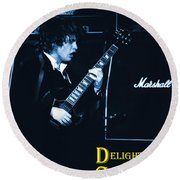 Angus Chords Delight Crowds In Blue Round Beach Towel