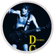 Angus Creates Decibel Celebrations In Blue Round Beach Towel