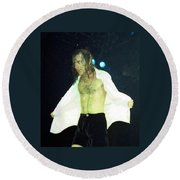 Angus Young Round Beach Towel