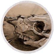 Animal Bones Round Beach Towel