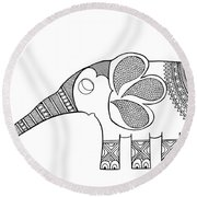Animal Elephant Baby Round Beach Towel by MGL Meiklejohn Graphics Licensing
