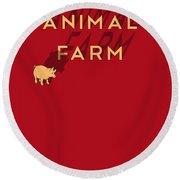 Animal Farm Book Cover Poster Art 1 Round Beach Towel