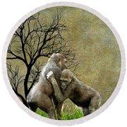 Animal - Gorillas - Isn't Love Grand Round Beach Towel