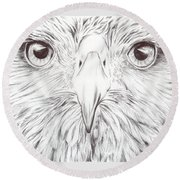 Animal Kingdom Series - Bird Of Prey Round Beach Towel