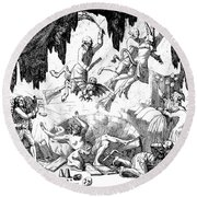 Animal Magnetism, 1784-5 Round Beach Towel