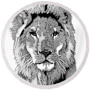 Animal Prints - Proud Lion - By Sharon Cummings Round Beach Towel