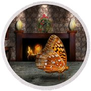 Animal - The Butterfly Round Beach Towel