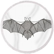 Animals Bat Round Beach Towel by MGL Meiklejohn Graphics Licensing