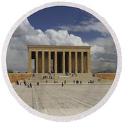 Anitkabir Ankara Turkey Round Beach Towel
