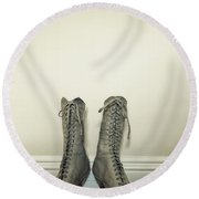 Ankle Boots Round Beach Towel