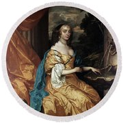 Ann Hyde, Duchess Of York (1637-1671) Round Beach Towel