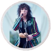 Ann Wilson Of Heart At 1981 Day On The Green In Oakland Ca Round Beach Towel