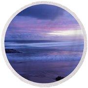 Anna Bay Sunset Round Beach Towel