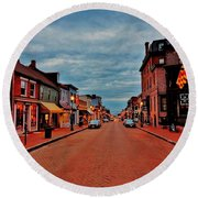 Annapolis Round Beach Towel by Benjamin Yeager
