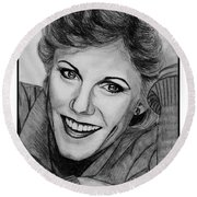 Anne Murray In 1983 Round Beach Towel by J McCombie