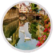 Annecy Round Beach Towel