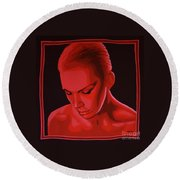 Annie Lennox Round Beach Towel by Paul Meijering