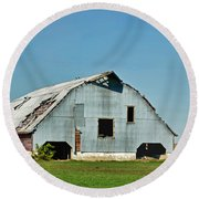 Another Barn To Repair Round Beach Towel
