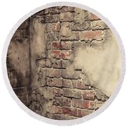 Another Brick In The Wall Round Beach Towel