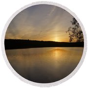 Another Day Ends Round Beach Towel