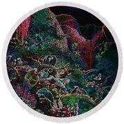 Another Day In Paradise - Digital 1 Round Beach Towel