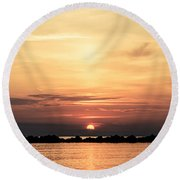 Another Earth - Sunrise On The Sea Round Beach Towel