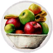 Another Fruit Bowl Round Beach Towel