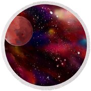 Another Galaxy Round Beach Towel