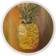 Another Pineapple Round Beach Towel