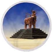 Another Roadside Attraction Round Beach Towel