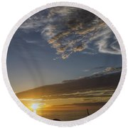 Another Socal Summer Sunset Round Beach Towel