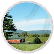 Another Sunny Day Round Beach Towel