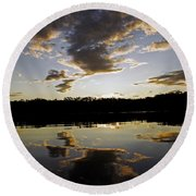 Another Sunset In The Jungle Round Beach Towel