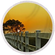 Another Tequila Sunrise Round Beach Towel