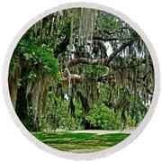 Savannah National Wildlife Refuge Round Beach Towel