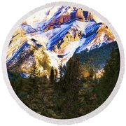 Another View Of My Mountain Round Beach Towel