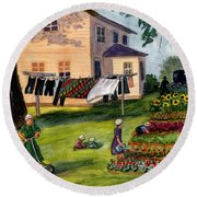 Another Way Of Life II Round Beach Towel by Marilyn Smith