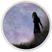 Another World Round Beach Towel by Loriental Photography