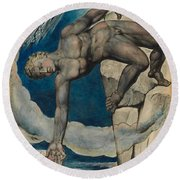 Antaeus Setting Down Dante And Virgil In The Last Circle Of Hell Round Beach Towel